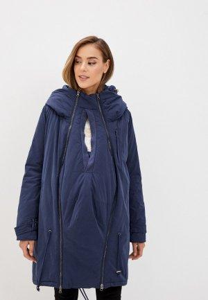 Куртка утепленная Mamalicious. Цвет: синий