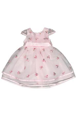 Платье Kidly. Цвет: бледно-розовый