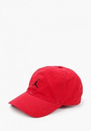 Бейсболка Jordan. Цвет: красный