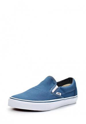 Слипоны Vans. Цвет: синий