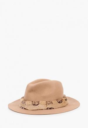 Шляпа Guess. Цвет: бежевый