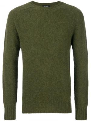 Классический свитер Howlin Howlin'. Цвет: зелёный
