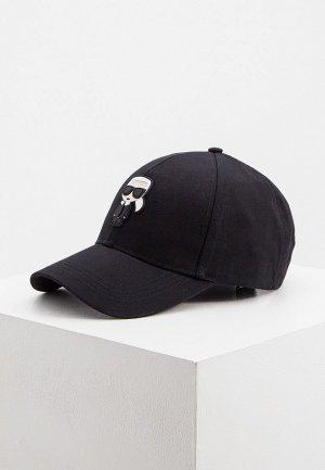 Бейсболка Karl Lagerfeld. Цвет: черный
