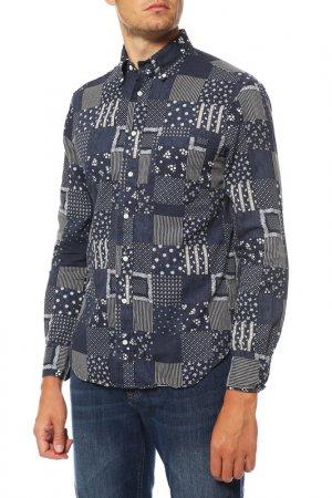 Рубашка GITMAN VINTAGE. Цвет: мультицвет