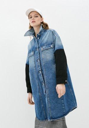 Куртка джинсовая MM6 Maison Margiela. Цвет: синий