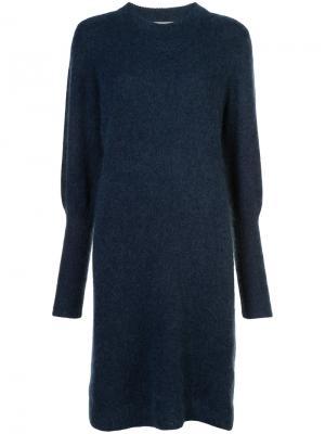 Платье-свитер Just Female. Цвет: синий