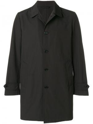 Single breasted coat Aspesi. Цвет: чёрный