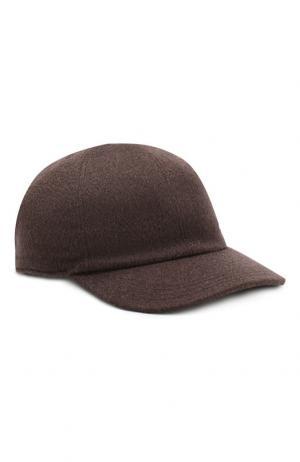 Кашемировая бейсболка Brioni. Цвет: коричневый