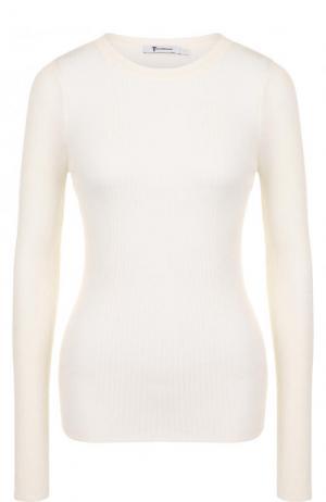 Приталенный шерстяной свитер с длинным рукавом T by Alexander Wang. Цвет: бежевый