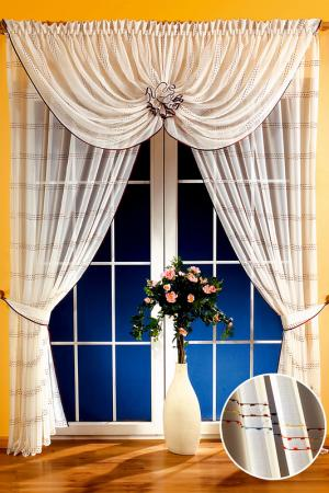 Комплект штор WISAN. Цвет: кремовый