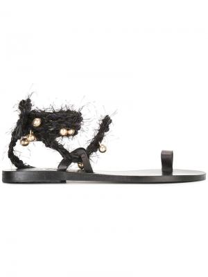 Сандалии Clotho Ancient Greek Sandals. Цвет: чёрный