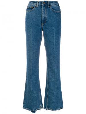 Расклешенные джинсы Mauro Grifoni. Цвет: синий