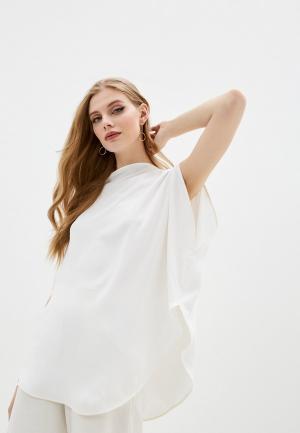 Блуза MM6 Maison Margiela. Цвет: белый