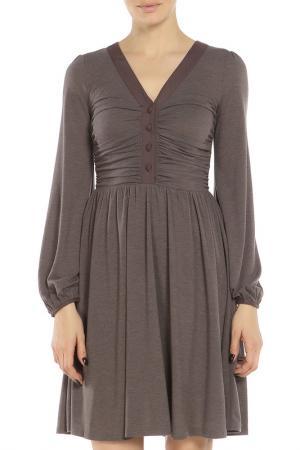 Платье Braude. Цвет: коричневый