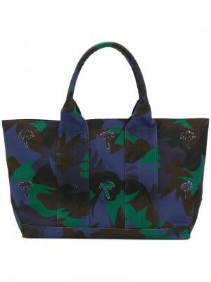 Пляжная сумка с принтом Tomas Maier. Цвет: многоцветный
