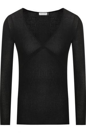 Пуловер с V-образным вырезом и металлизированной нитью Altuzarra. Цвет: черный