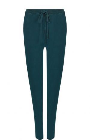 Хлопковые брюки с карманами Roque. Цвет: темно-зеленый