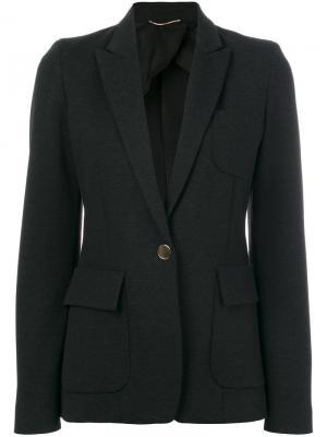 Классический приталенный пиджак Les Copains. Цвет: серый