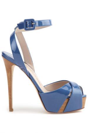 Босоножки LE SILLA. Цвет: голубой