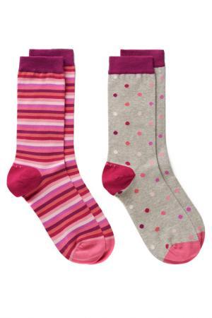 Носки, 2 пары Gant. Цвет: красный