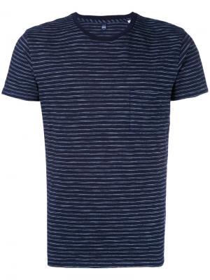 Полосатая футболка Edwin. Цвет: синий