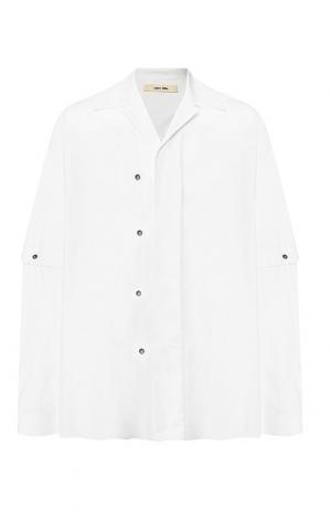 Хлопковая рубашка свободного кроя с декоративной отделкой Damir Doma. Цвет: белый
