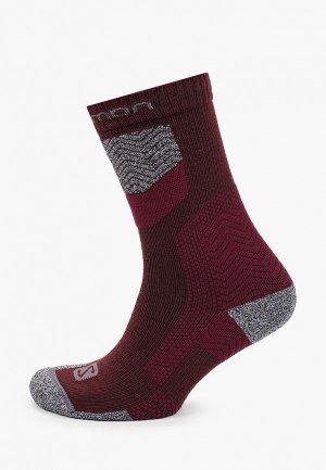 Носки Salomon. Цвет: бордовый