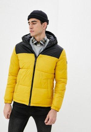Куртка утепленная Jack & Jones. Цвет: желтый