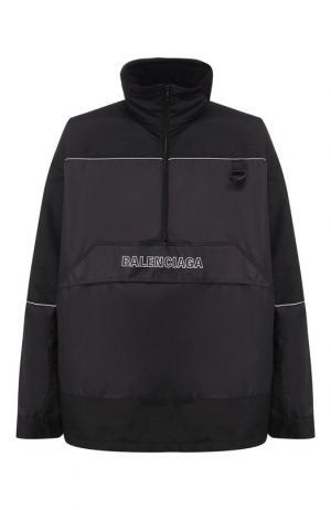 Анорак с логотипом бренда Balenciaga. Цвет: черный