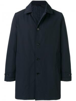 Однобортное пальто Aspesi. Цвет: синий