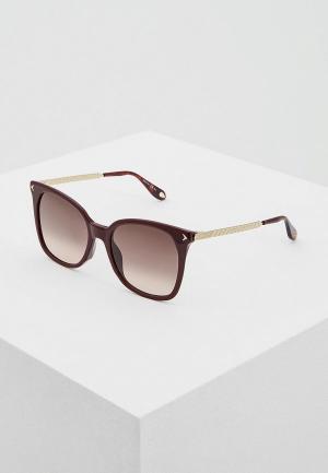 Очки солнцезащитные Givenchy. Цвет: бордовый