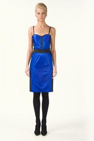 Платье с регулированными лямками LeVall. Цвет: синий