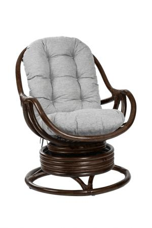Кресло-качалка c подушкой MEBEL IMPEX. Цвет: темно-коричневый