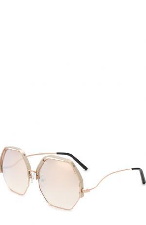 Солнцезащитные очки Matthew Williamson. Цвет: золотой