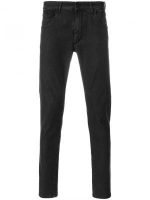 Подвернутые джинсы Hydrogen. Цвет: чёрный