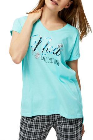 Shirt MOODO. Цвет: turquoise