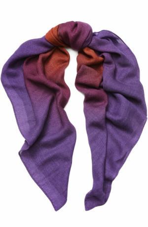 Кашемировая шаль Loro Piana. Цвет: фиолетовый