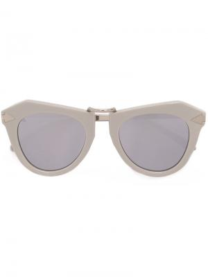 Солнцезащитные очки One Orbit Karen Walker Eyewear. Цвет: серый