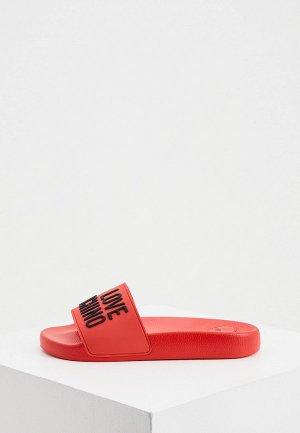 Сланцы Love Moschino. Цвет: красный