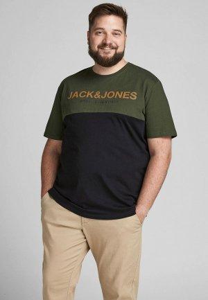 Футболка Jack & Jones. Цвет: черный