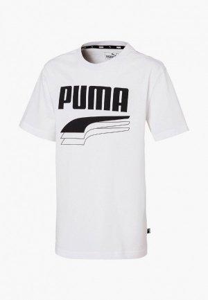 Футболка PUMA. Цвет: белый