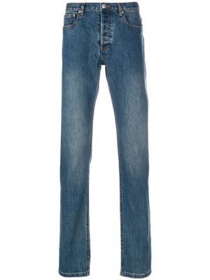 Stonewashed slim-fit jeans A.P.C.. Цвет: синий