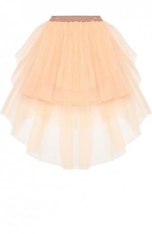 Пышная многослойная юбка Jean Paul Gaultier. Цвет: розовый