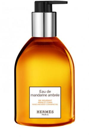Гель для рук Eau de mandarine ambrée Hermès. Цвет: бесцветный