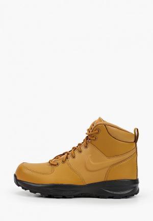 Ботинки Nike. Цвет: коричневый