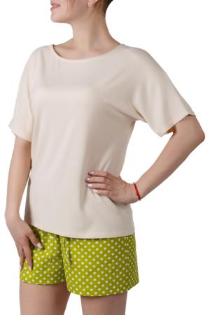 Пижамный комплект Sonett. Цвет: кремово-салатовый