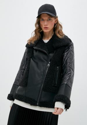 Дубленка Karl Lagerfeld. Цвет: черный