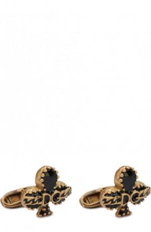 Запонки Dolce & Gabbana. Цвет: золотой
