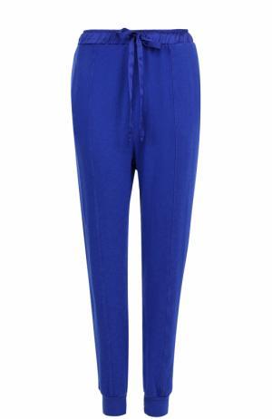 Джоггеры с карманами и эластичным поясом Clu. Цвет: синий