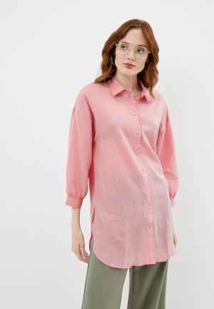 Блуза Jacqueline de Yong. Цвет: коралловый